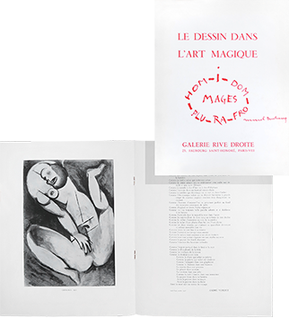 Exhibition catalogue de  : Le dessin dans l'art magique