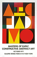 Manifesto serigrafia de Herbin Auguste : Masters of early constructive abstract art