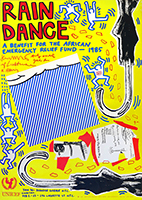 Affiche lithographie de Haring Keith : Rain Dance