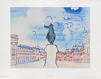 Estampe reproduction Jacomet de Dufy Raoul : Versailles