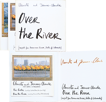 Signed book de  : Over the river - The Gates