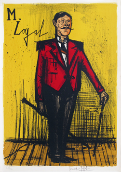 Lithographie originale signée de Buffet Bernard : Monsieur Loyal