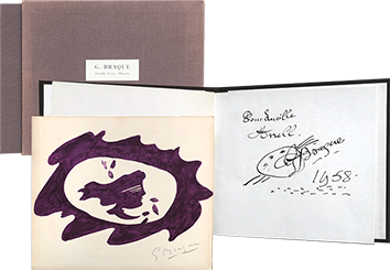 Book with original drawing de  : Georges Braque - Grands livres illustrés