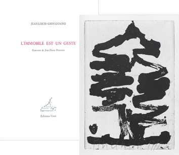 Book with etchings de  : L'immobile est un geste