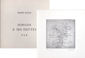 Book with print de  : Songer à ses dettes