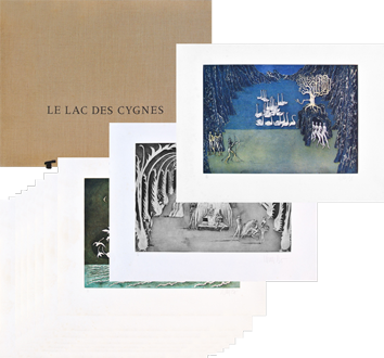 Portfolio with etchings de  : Le Lac des Cygnes