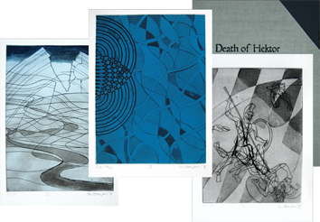 Book with etchings de  : Death of Hektor